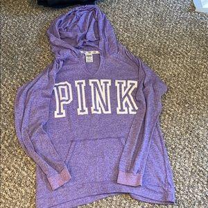 Pink light weight hoodie